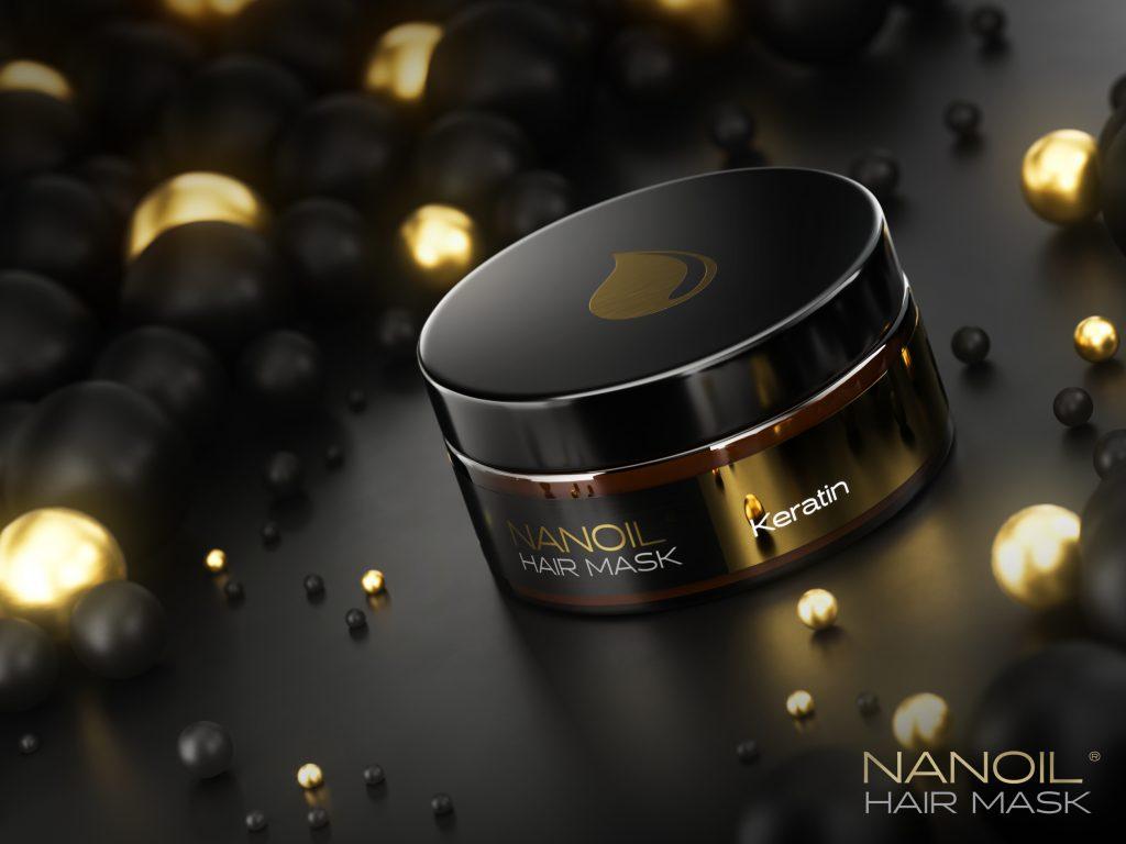 keratynowa maska na włosy nanoil